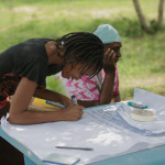 Dopo le interviste, Scholar, la nostra antropologa, ha condotto un lavoro di gruppo che ha coinvolto tutta la comunità.