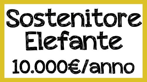 sostenitore elefante 10.000€/anno