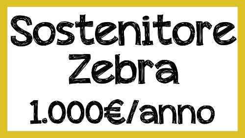 sostenitore zebra 1.000€/anno